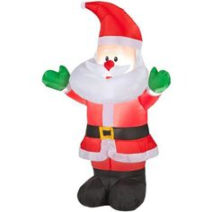 Holiday Living Inflatable Airblown Baby Santa Outdoor Christmas Decoration with LED White Lights *** Check out the image by visiting the link.