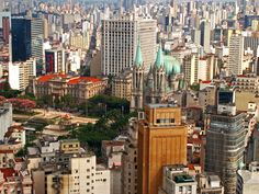 A view of the city of Sao Paulo, Brazil, one of the largest cities in the world, with more than 20 million people.