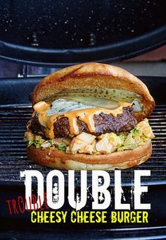 Double trouble cheese burger