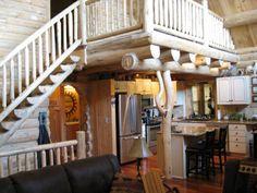 Log home kitchen idea