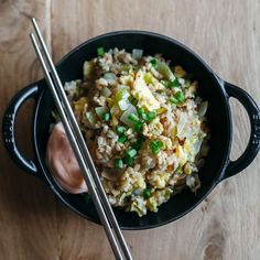 This easy, best-ever fried rice gets supercrispy on the bottom. Get the recipe at Food & Wine.