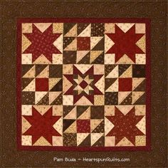 My Crimson & Clover quilt...one of three quilts in my Tokens of the Past: Spice Box pattern series.
