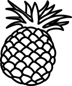6 Best Images of Pineapple Outline Printable Pineapple Coloring Pineapple facts Pineapple Fruit