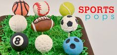 These multi-sport cake pops are fun to make and eat The perfect treat for your sports lover kids Sports Birthday, Sports Party, Sport Cakes, I Am Amazing, Cupcake Cookies, Cupcakes, Cake Pops, Oreo, The Incredibles