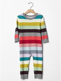 Holiday stripe sweater one-piece   Gap  love- 6-12 or 12-18 not sure. depends on his size at birth haha
