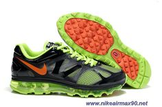 6e352af1abaf Mens Electric Green Dark Grey Black Orange 487982-031 Nike Air Max 2012 Sale  Electric