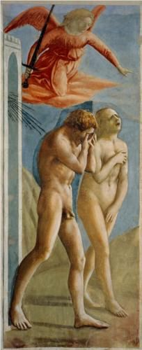 Adam and Eve banished from Paradise - Masaccio - WikiPaintings.org
