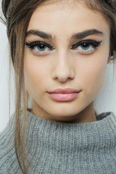 runwayandbeauty:Taylor Marie Hill - Beauty at Fendi Fall 2015 |...
