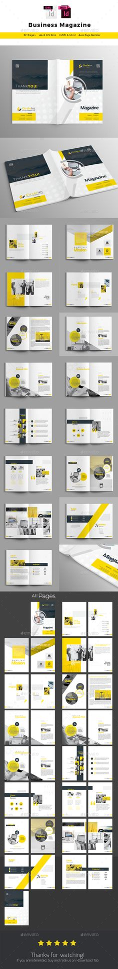 Magazine Magazines, Print templates and Template - it manual templates to download