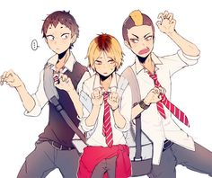 Kenma looks so embarrassed lol | Haikyuu!!