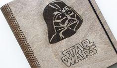Originálny drevený zápisník, drevene, notebook, diar, slovakia, slovenske, slovensko, darth vader, Star Wars, darček, darček pre muža, gift, hviezdne vojny Star Wars, Darth Vader, Stars, Sterne, Starwars, Star, Star Wars Art