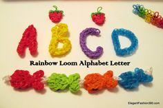 Rainbow Loom Alphabet   ♥ Like us on Facebook: http://on.fb.me/1bz2WYi ♥ Tutorials on yourTube channel: https://www.youtube.com/user/ElegantFashion360   ♥ Check out my web site: http://elegantfashion360.com Creativity is an Attitude!!! Good Luck!