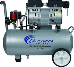 California Air Tools Ultra Quiet & Oil-Free hp gallon Aluminum Portable Electric Portable Air Compressor, Silver - Product Tools and Hardware Air Compressor Motor, Quiet Air Compressor, Electric Air Compressor, Portable Air Compressor, California, Air Tools, Air Compressors, 55 Gallon, Aqua
