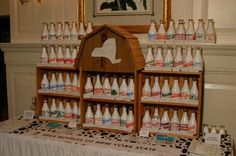 Dairy Development Grand Opening, Milk bottles of NY State.