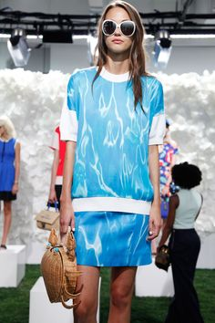 Crab Carrier w/ Aquamarine Eyes & Matching Water Ripple Outfit #refinery29 http://www.refinery29.com/2014/09/74055/kate-spade-spring-2015#slide2
