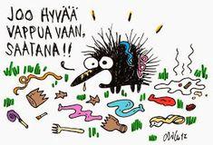 @RokkaavaKokki: Hyvää vappua ja kebabkiusausta ! Funny Texts, Finland, Sarcasm, Hilarious, Snoopy, Humor, Reading, Words, Memes