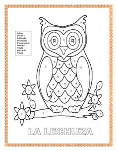 How To Produce Elementary School Much More Enjoyment Fun Interactive Color By Number Farm Themed Coloring Page. The Owl Is A Fun Activity Form Incredible Lesson Before Farm Field Trips. Understudies Will Enjoy Completing The Word Search And Practice T Before Kindergarten, Kindergarten Graduation, Kindergarten Lessons, The Farm, Graduation Words, Spanish Colors, Spanish 1, Spanish Lessons, First Grade Lessons