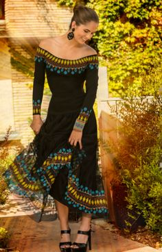 Roja Embroidered Peasant Dress from Cowgirl Kim