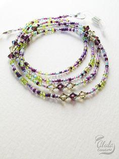 Swarovski Eyeglasses Chain, Eyeglass Holder Necklace, Reading Glasses Chain, Eyeglass Chain, Glass Cord, Glass Lanyard / 29 inch / EGH-1023