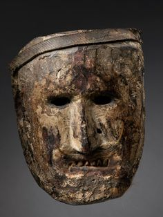 Shamanic Mask Middle Hills, Nepal Wood, pigment, rubber strip, fur 18th/19th Century