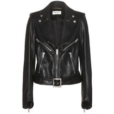 Saint Laurent - Leather jacket - A leather jacket is a must-have for any fashion-focused wardrobe. This sleek, chic essential is the perfect foil to Saint Laurent's pretty printed dresses or clean separates. We love the tough-luxe black leather and symmetrical zipper detailing. seen @ www.mytheresa.com