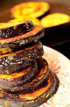 I love eggplant and thought that everyone else does too. I mean who doesn't like eggplant, it is purple! To my dismay, it turned out not to be true. I wonder if people who dislike eggplant ha… Pan Fried Eggplant, Fries, Appetizers, Cooking, Breakfast, Blog, Cuisine, Snacks, Kitchen