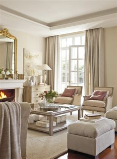 Love this multi-tone cream colour scheme, very restful and soft.  Very nice furnishings.