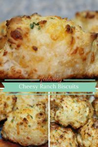 Cheesy Ranch Biscuits Recipe with Shredded Cheese