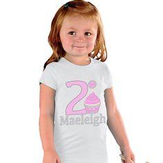 Birthday Girl Cupcake Shirt by shirtsbynany on Etsy