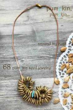 pumpkin seed jewelry
