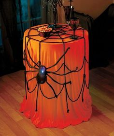 *NEW* Lighted Spider with Web -Indoor/Outdoor Glowing Scary Halloween Decoration