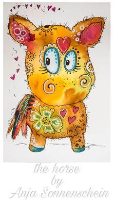 #colorfulcrazyworld the Horse By Anja Sonnenschein Inspiriert von Clarissa Hagenmeyer