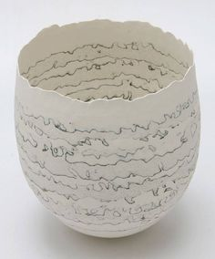 Cheryl Malone Porcelain - stratified Vessel Series click now for more info. Ceramic Clay, Ceramic Plates, Ceramic Pottery, Pottery Art, Porcelain Ceramics, Slab Pottery, Earthenware, Stoneware, Clay Bowl
