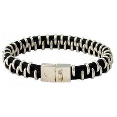 Leather Biker Bracelet - Coté Mecs
