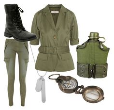 """Army: WWII"" by cuilen ❤ liked on Polyvore"