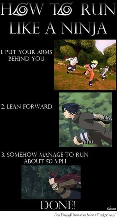 Pretty sure every Naruto fan has tried this at least once in their lives.