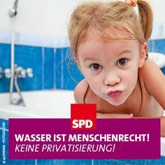Für die SPD ist klar: Die Wasserversorgung ist in öffentlicher Hand am besten aufgehoben. Deshalb unterstützen wir die Initiative.  Noch bis 31. Oktober können Unterschriften gesammelt werden, entweder auf Listen oder online unter www.right2water.eu/de oder www.wasser-ist-menschenrecht.de.