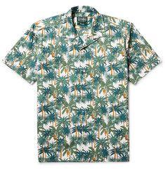 Gitman Vintage - Camp-Collar Printed Cotton-Poplin Shirt