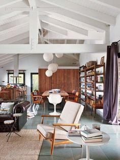 Una casa de campo con estilo loft
