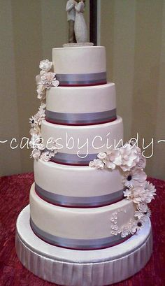 5 tier wedding cake   EASY TO DO!!!