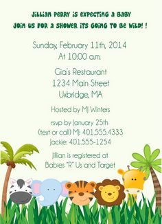 jungle baby shower invitations by on etsy 125