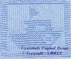 Knitting Cloth Pattern  POLICE BOAT  PDF  Instant by ezcareknits