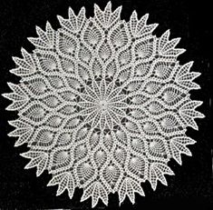 All of us love crochet doilies and more so if they are pineapple crochet doily patterns and that too free, have a look here and start one today Vintage Crochet Doily Pattern, Crochet Dollies, Crochet Motifs, Filet Crochet, Crocheted Lace, Diy Tricot Crochet, Crochet Home, Thread Crochet, Crochet Crafts