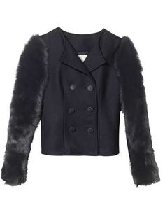 Those fur-trimmed sleeves add a major wow factor to this Rebecca Taylor coat