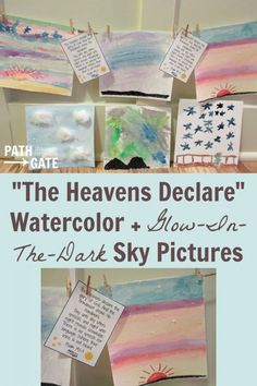 Paint beautiful watercolor sky pictures, complete with glow-in-the-dark stars and a reminder of God's greatness, today!