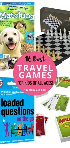 Looking for fun ways to entertain kids while traveling? These travel games are sure to please the whole family on your next vacation! Whether you're going on a road trip or traveling by airplane, these games will keep children of all ages content on the go. Bonus: these games are super fun to play at home, too! #travel #games #familytravel #travelwithkids Travel Toys, Travel Gadgets, New Travel, Travel With Kids, Family Travel, Vacation Packing, Family Vacation Destinations, Cruise Vacation, Kids Activities At Home