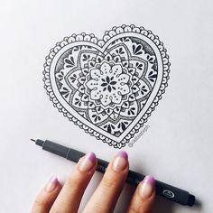 Some mandala heart fusion ✨