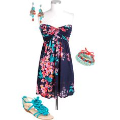 Floral Summer, created by kenzie-20 on Polyvore