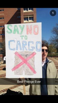 "The ""No Cargos"" pledge. TFM."