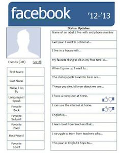 Free & Editable Version - Getting to know your students through Facebook  Emerald City: Back to School